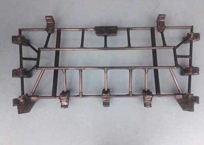 Calibro parabrezza in carbonio con inserti in alluminio