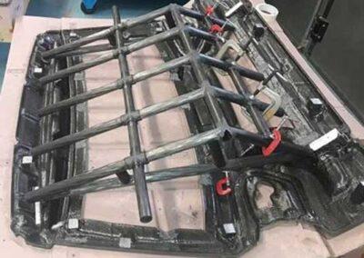 Calibro portellone in carbonio con inserti in alluminio