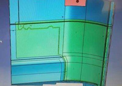 Progettazione 3D, stampo sedile aeronautico