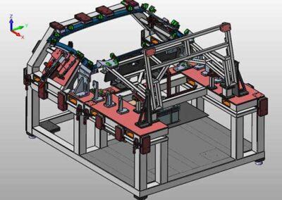 Progettazione di attrezzo di montaggio motorizzato per il tetto